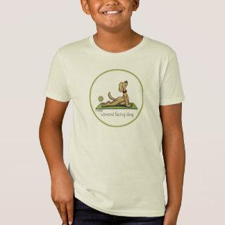 Camiseta Cão ascendente do revestimento - pose da ioga