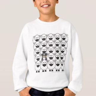 Camiseta Cão de montanha de Bernese nos carneiros