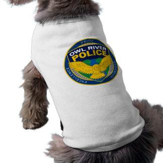 Camiseta Cão de polícia do rio da coruja