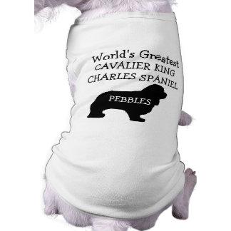Camiseta Cão descuidado do Spaniel de rei Charles dos