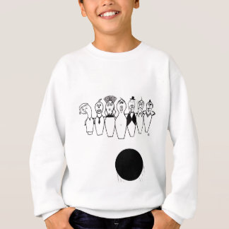 Camiseta Caráteres engraçados do pino de boliche