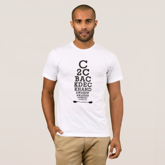 Camiseta Carta de olho do rolo do caiaque