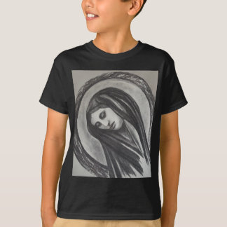 Camiseta Carvão vegetal do branco cinzento de avenida Maria
