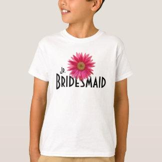 Camiseta Casamento cor-de-rosa da margarida do Gerbera