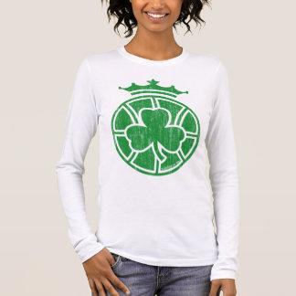 Camiseta Célticos coroados (verde do vintage)