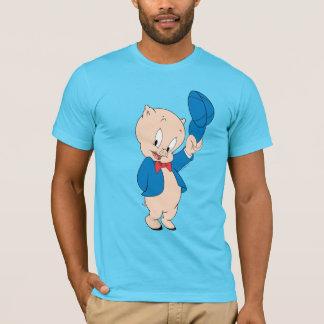 Camiseta Chapéu de ondulação Porky do porco  
