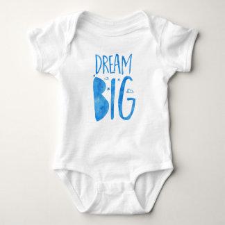 Camiseta Citações grandes, inspiradas ideais, aguarela azul