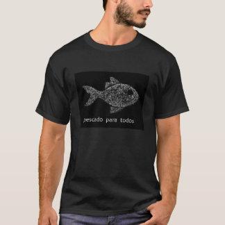 Camiseta com caricatura dos peixes do recife
