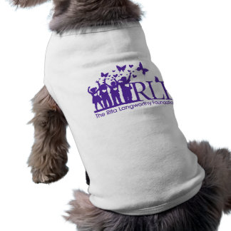 Camiseta com nervuras do cachorrinho do logotipo camisa sem mangas para cachorro
