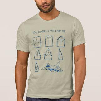 Camiseta Como fazer um T do gráfico do avião de papel