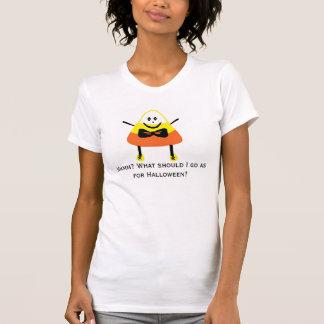 Camiseta Cópia de CANDYCORN, Hmmm? O que deve mim ir quanto