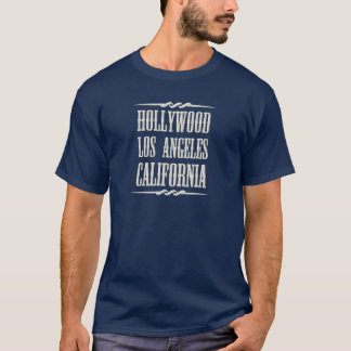 Camiseta Cor do branco de Hollywood Los Angeles Califórnia