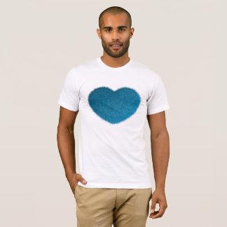 Camiseta Coração azul grande