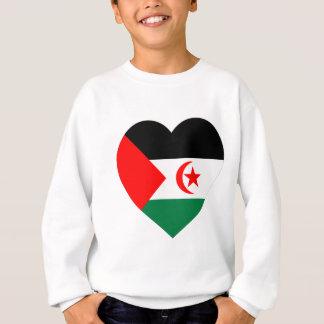 Camiseta Coração da bandeira de Western Sahara