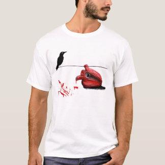 Camiseta Coração preto do corvo e de sangramento