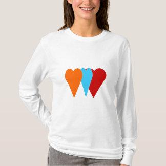 Camiseta Coração triplo do amor