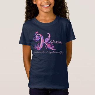 Camiseta Corações de significado conhecidos do monograma