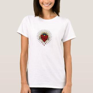 Camiseta Coroa do amor sagrado de Jesus do coração de