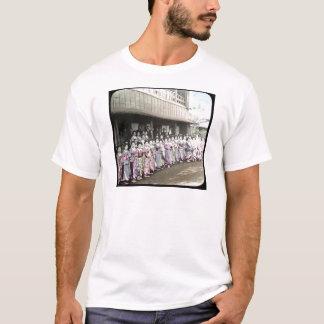 Camiseta Corrediça de lanterna mágica da gueixa do vintage