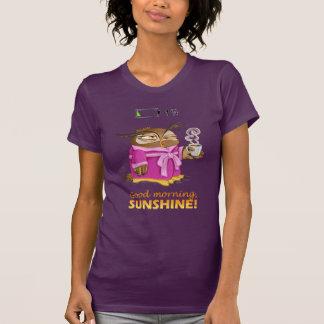 Camiseta Coruja da luz do sol do bom dia