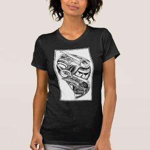 c57fbae01 Camiseta Corvo e gaivota nativos do Totem da costa pacífica