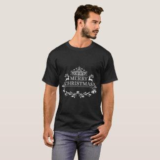 Camiseta Crachá e Feliz Natal   dos cervos