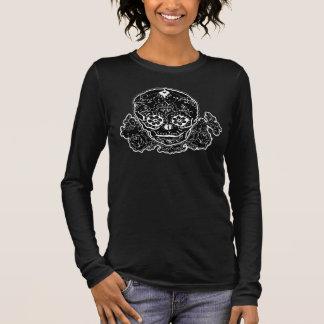Camiseta Crânio do açúcar de Bella preto e branco