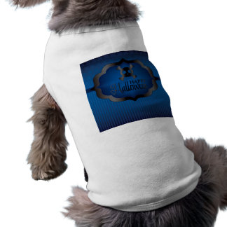 Camiseta Crânio do azul do Dia das Bruxas