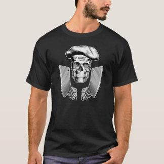 Camiseta Crânio do cozinheiro chefe: Facas de carniceiro