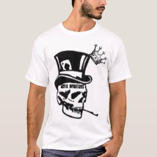 Camiseta crânio real, indústrias aaaaaaaroyal, REAIS