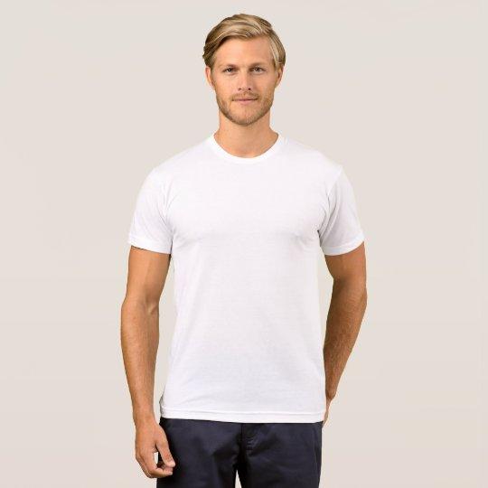 Camiseta Masculina, Algodão e Poliéster, Branco