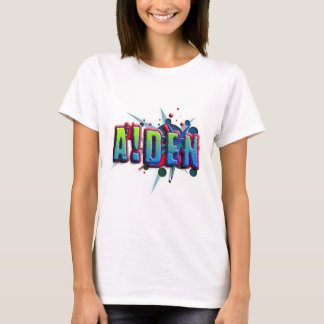 Camiseta Cume name Aiden with! as j
