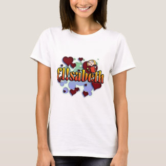 Camiseta Cume name Elisabeth with! as j