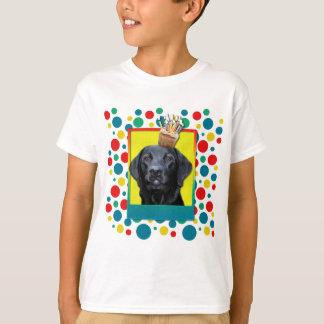 Camiseta Cupcake do aniversário - Labrador - preto -