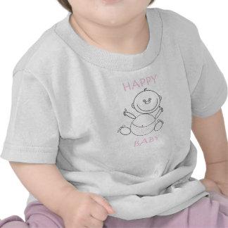 Camiseta da criança bebê feliz