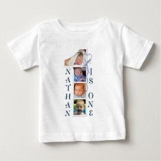 Camiseta da idade e do número da foto. Design