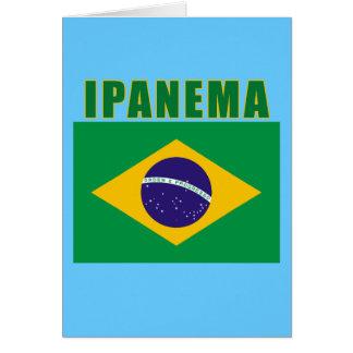 Camiseta da praia de IPANEMA Brasil, presentes Cartão Comemorativo