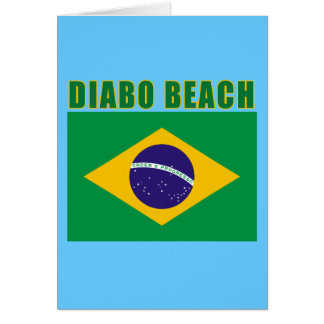 Camiseta de Brasil da PRAIA de DIABO, presentes Cartão