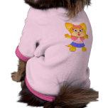 Camiseta de cão bonito de Teakup Yorkie Roupas Para Pet