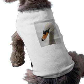 Camiseta de cão - cisne macro branca