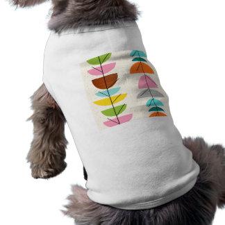 Camiseta de cão colorida retro dos ninhos