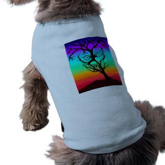 Camiseta de cão da árvore do crânio camisa sem mangas para cachorro