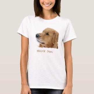Camiseta de cão da neve do golden retriever
