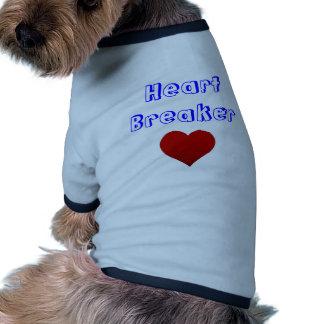 Camiseta de cão do disjuntor do coração camiseta para cães