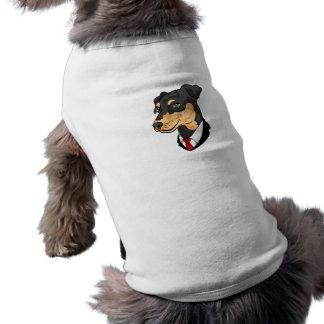 Camiseta de cão do Pinscher diminuto Camisa Sem Mangas Para Cachorro