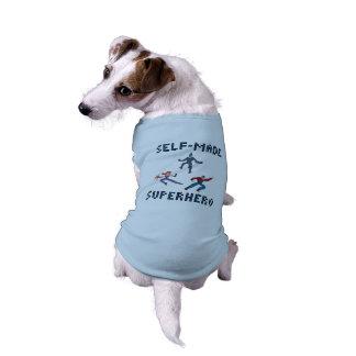 Camiseta de cão do super-herói