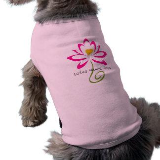 Camiseta de cão do zen do coração de Lotus Camisa Sem Mangas Para Cachorro