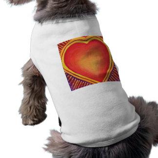 Camiseta de cão grande do coração camisa para cães
