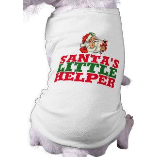 Camiseta de cão pequena do Natal do ajudante do Camisa Sem Mangas Para Cachorro