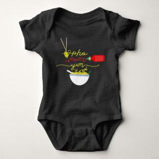 Camiseta De Pho ligação em ponte de BEBÊ do molho picante
